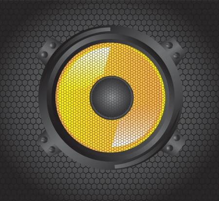 Big speaker over gray background vector illustration  Stock Vector - 19179882