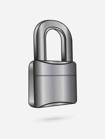 unbreakable: chromium padlock over white background vector illustration  Illustration