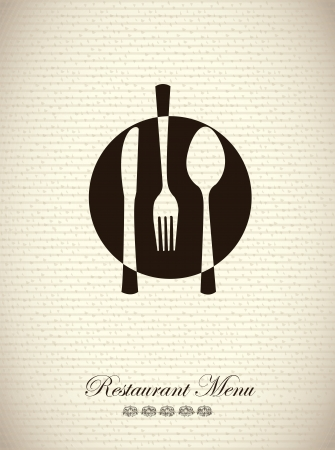 Restaurant menu over vintage background vector illustration