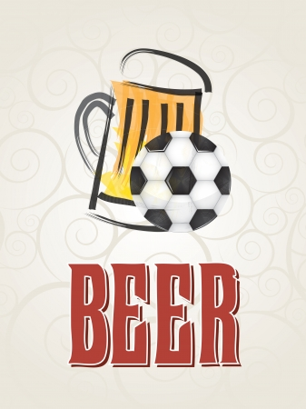 beer and sport over brown background vector illustration Stock Vector - 19180098