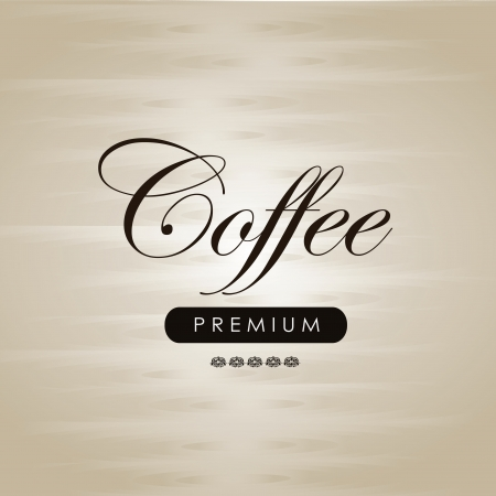 Coffe label over brown background vector illustration Vector
