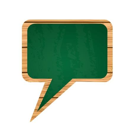 inovation: blackboard green over white background vector illustration