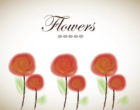 fuschia: beauty colors flower over white background vector illustration