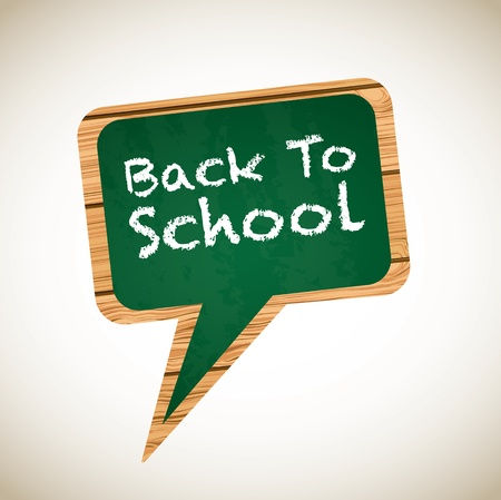 inovation: board with a back to school announcement Illustration