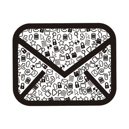 email icons over white background. vector illustration Vector