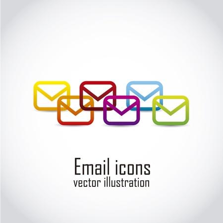 newsletter icon: email icons over white background. vector illustration Illustration