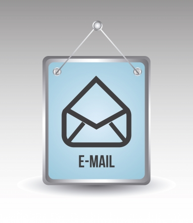 email icon over gray background. vector illustration Stock Vector - 19179458