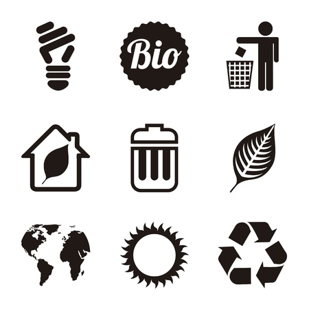 ecology icons over white background. vector illustration Stock Vector - 19179253