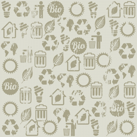 ecology icons over beige background. vector illustration Stock Vector - 19179942