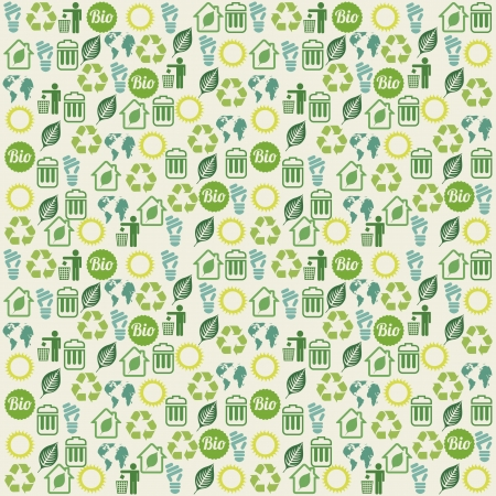 ecology icons over beige background. vector illustration Stock Vector - 19179874