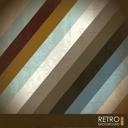 retro illustration  over pattern background. vector Stock Vector - 19181067