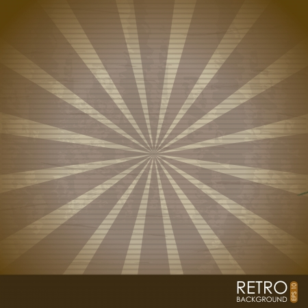 retro illustration  over pattern background. vector Vector