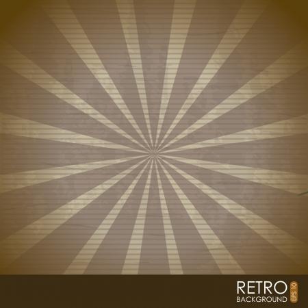 retro illustration  over pattern background. vector Stock Vector - 19181070