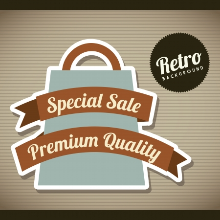 retro label over brown background. vector illustration Vector