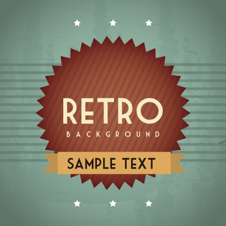 retro illustration with ribbon over grunge background. vector Stock Vector - 19180482