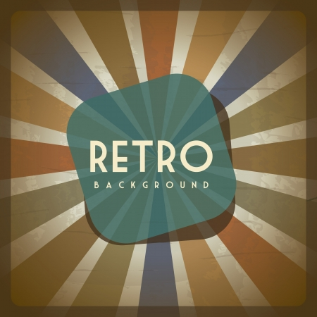 old retro illustration over grunge background. vector Vector
