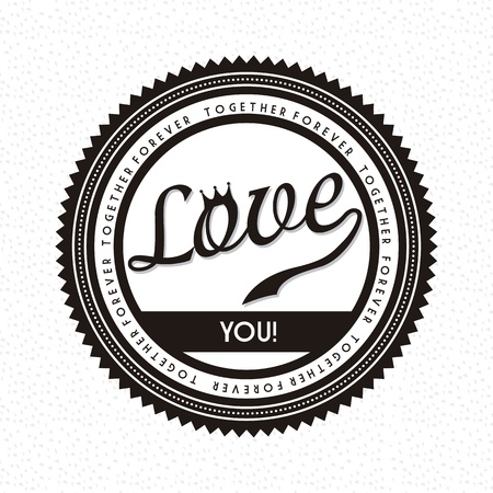 love label over white background. vector illustration Stock Vector - 19179859