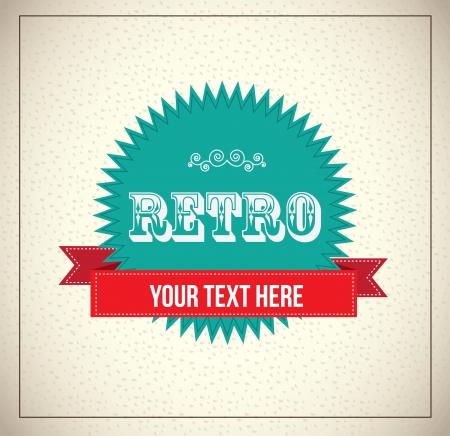 Retro label over vintage background illustration Stock Vector - 19306068