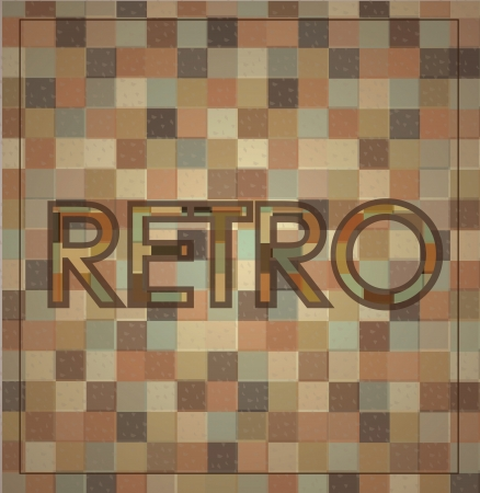 retro label over squares background illustration  Stock Vector - 19306238