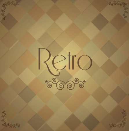 Retro and vintage label over vintage background illustration Vector
