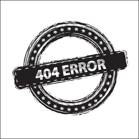 404 Error stamp over white background illustration  Stock Vector - 19306229