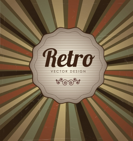 Retro label over lines vintage background illustration  Stock Vector - 19306235