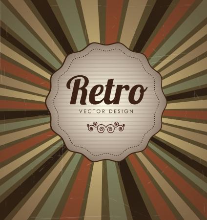 Retro label over lines vintage background illustration Stock Vector - 19306235