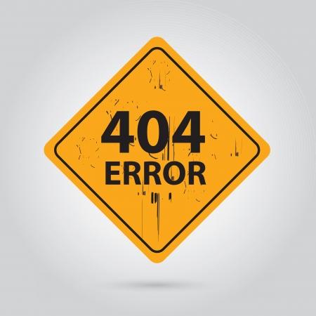 404 Error road signal over white background illustration Stock Vector - 19305892