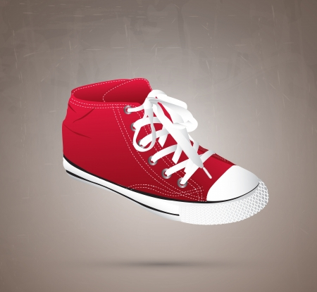 a great shoe over gray background illustration