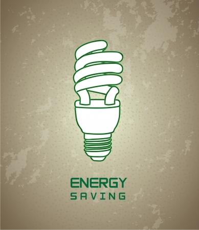 Energy saving over vintage background illustration Stock Vector - 19306329