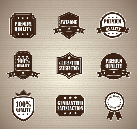 Vintage label over cardboard background illustration Vector
