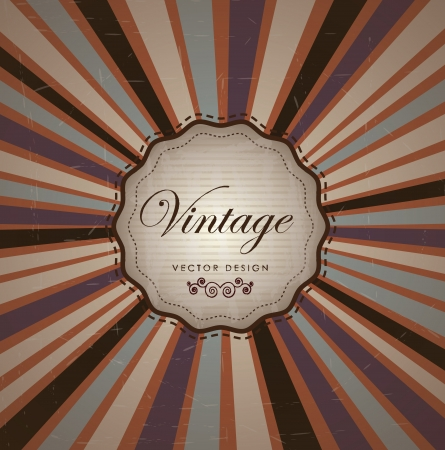 Vintage label over old background illustration  Stock Vector - 19306400