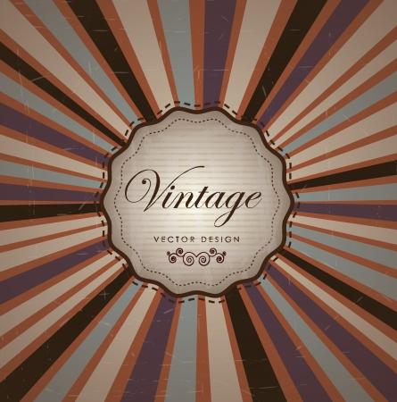 Vintage label over old background illustration Stock Vector - 19306400