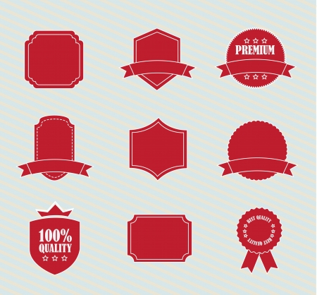different red tags over white background illustration Vector