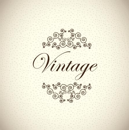 Vintage label over old background illustration  Stock Vector - 19305887