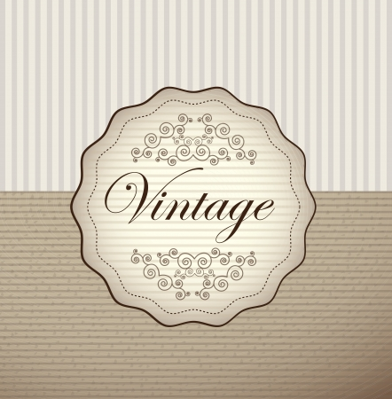 Vintage label over old background illustration Stock Vector - 19305895