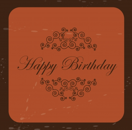 Happy Birthday card over vintage background illustration Vector