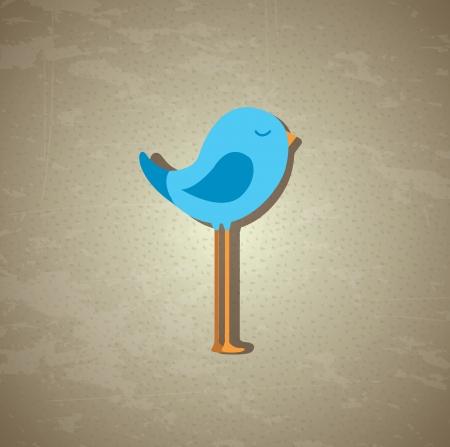 pajaro azul: p�jaro azul sobre cosecha ilustraci�n de fondo