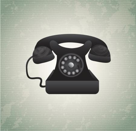 old phone over vintage background illustration Stock Vector - 19306322
