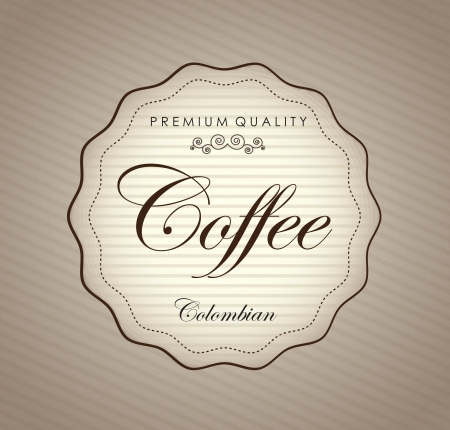 coffeehouse: Premium coffee label over vintage background illustration Illustration