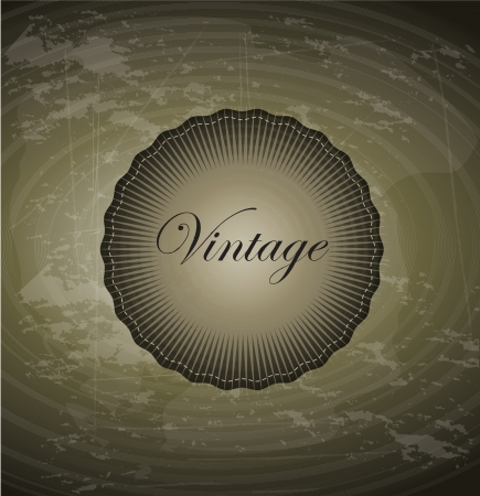 Old  and vintage background with seal illustration Stock Vector - 19307447