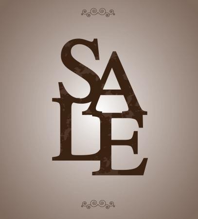 Sale label over vintage background illustration Stock Vector - 19307413