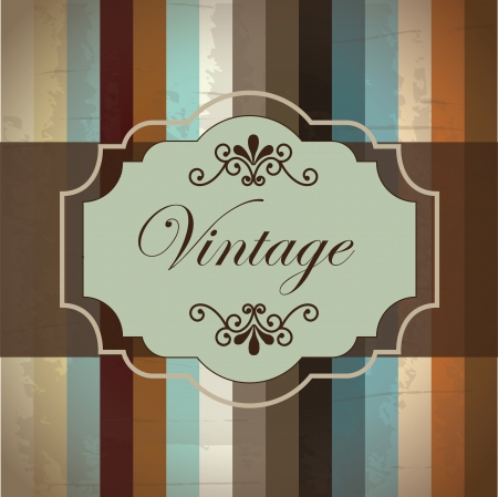 Vintage label over old background illustration Vector