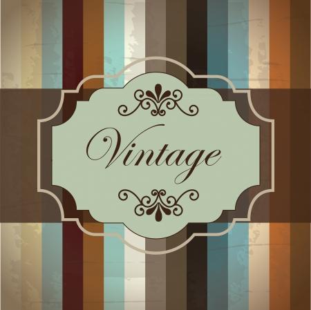Vintage label over old background illustration Stock Vector - 19307448