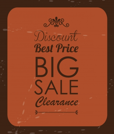 Big sale label over vintage background illustration Vector