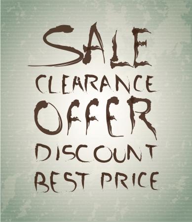 Offer,label,discount  label over vintage background illustration Stock Vector - 19307574