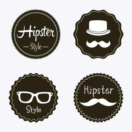 bigote: etiquetas inconformista sobre gris ilustraci�n de fondo