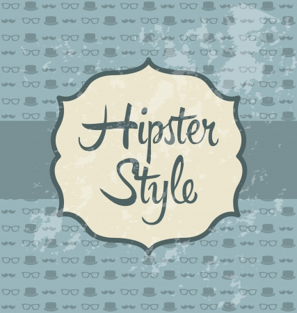 hipster illustration over retro background, old style Stock Vector - 19307245