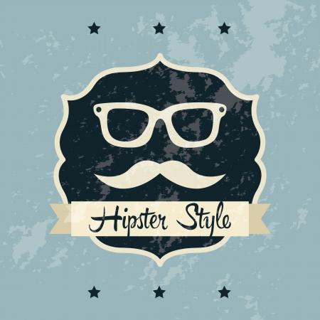 indie: etiqueta inconformista sobre fondo azul, viejo estilo de ilustraci�n Vectores