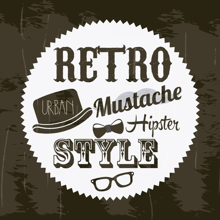 indie: hipster illustration over retro background, old style